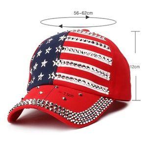 Accessories - USA American Flag Print Hat